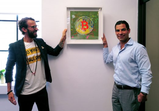 Artist Sergey Gordienko and Mayor of Miami Francis Suarez in City Hall of Miami