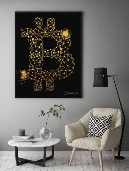 Bitcoin Gold Art Blockchain
