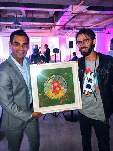 Artist Sergey Gordienko and Mayor of Miami Francis Suarez