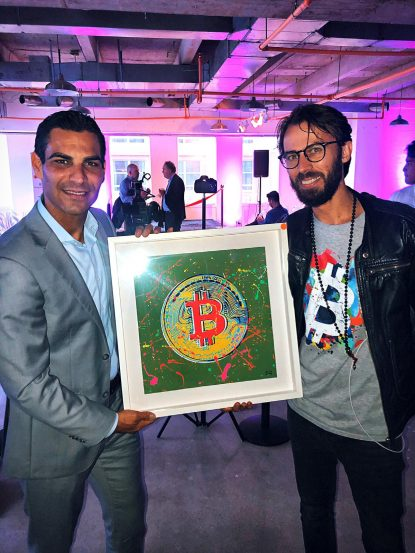 Artist Sergey Gordienko and Mayor of Miami Francis Suarez