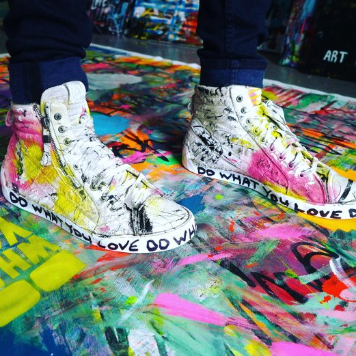 Do What You Love hand painted shoes