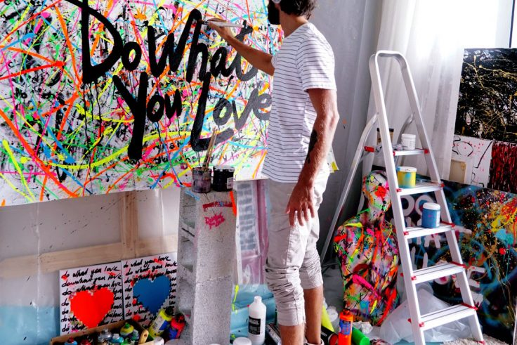 Do What You Love Hand Painted Jackets
