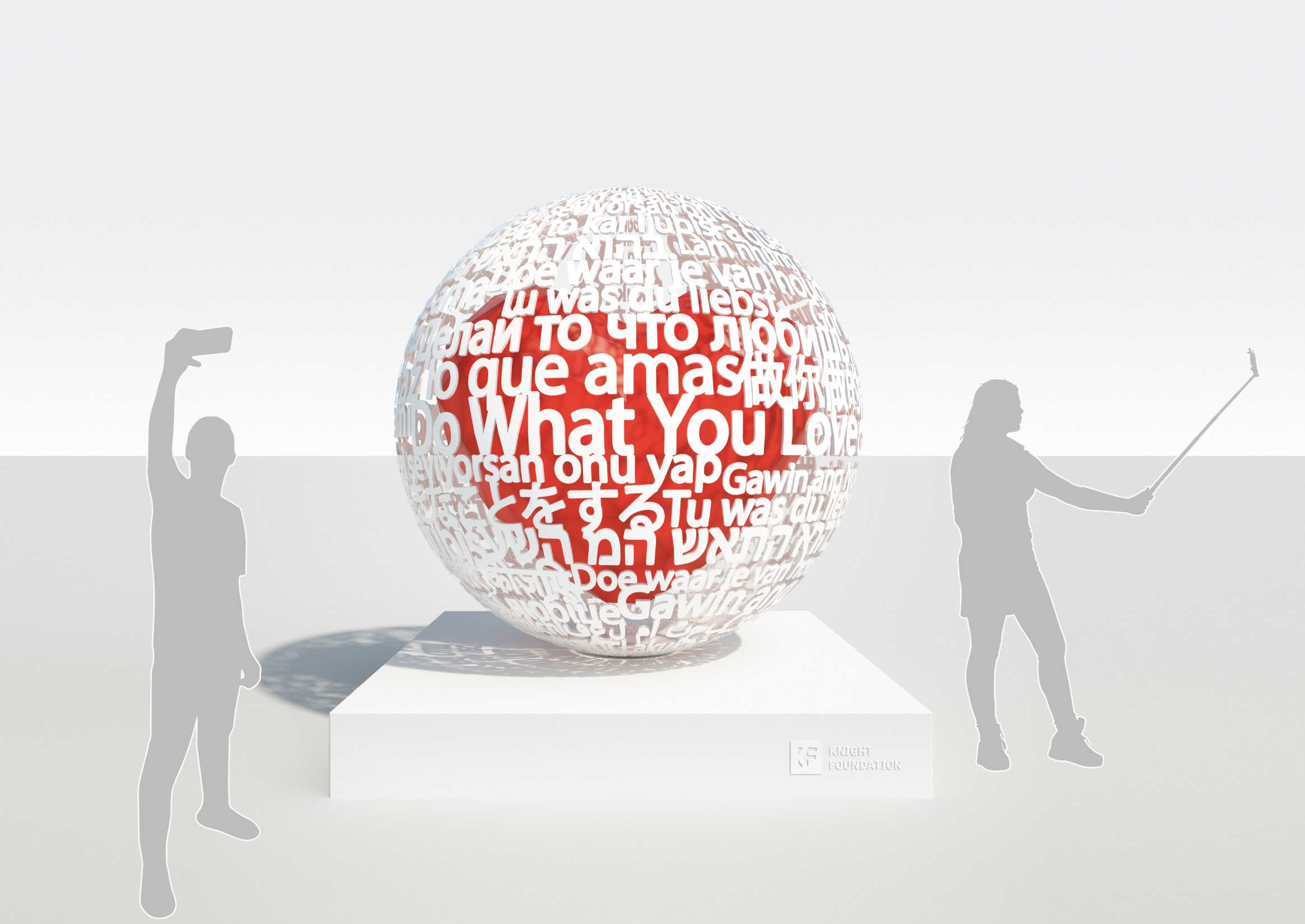 Do What You Love Sculpture for city of Miami by Sergey Gordienko