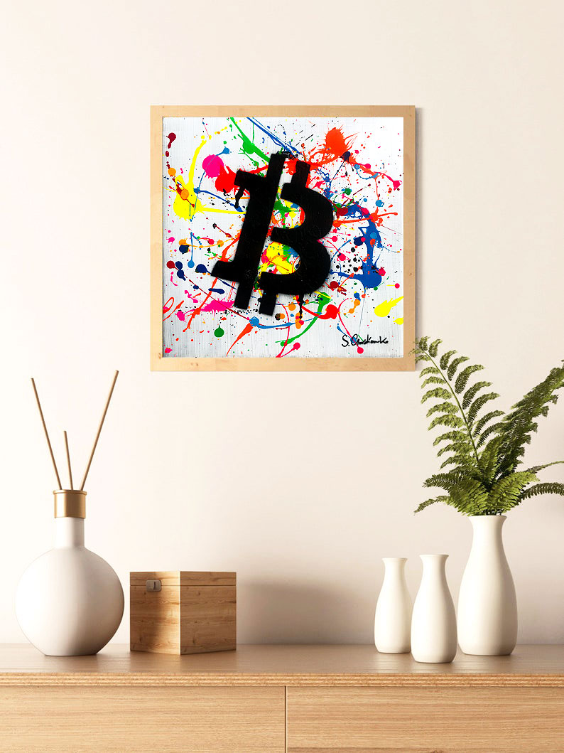 Bitcoin Art by crypto Artist Sergey Gordienko